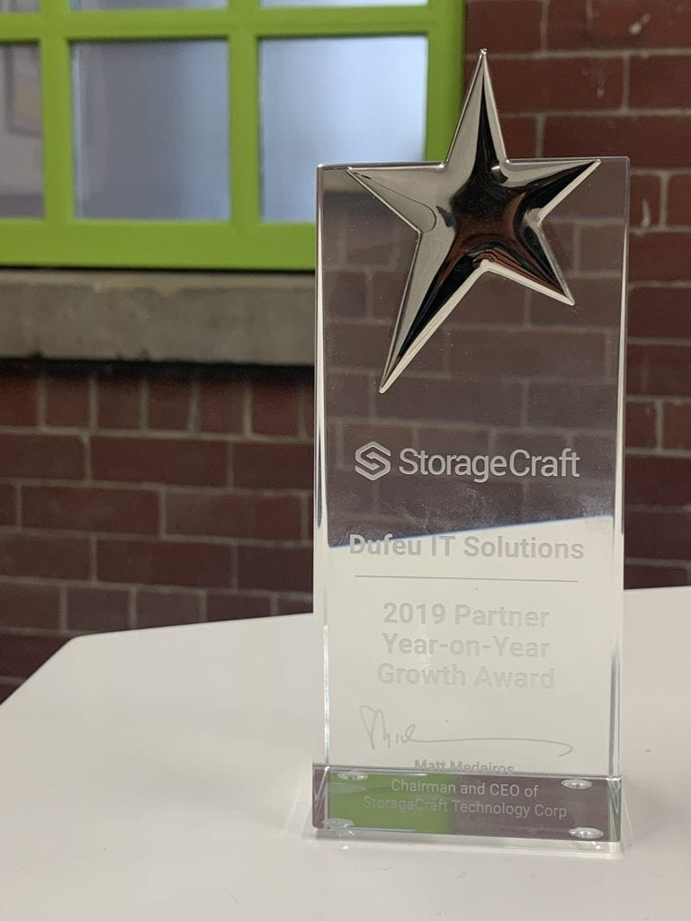 StorageCraft 2019 Partner Year-on-Year Growth Award
