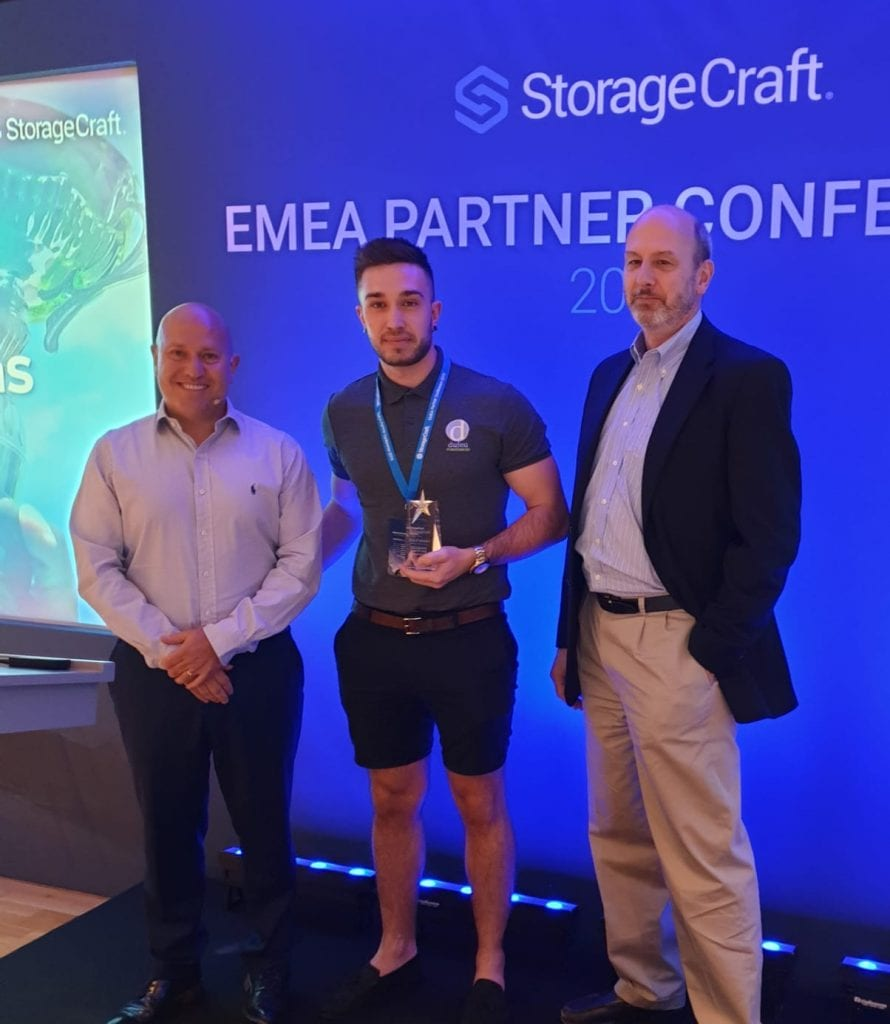 Adam Receiving StorageCraft 2019 Partner Year-on-Year Growth Award