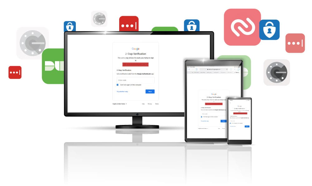 Available apps for two-factor authentication